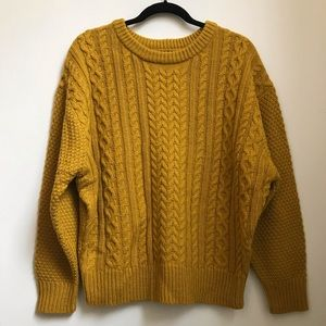 For the Republic Yellow Oversized Knitted Sweater